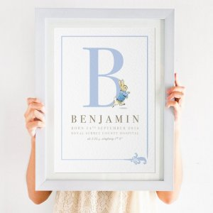 Personalised Peter Rabbit Birth Details