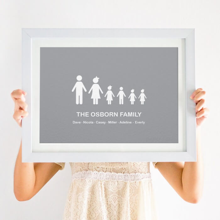 Our Family Personalised Print Wall Art