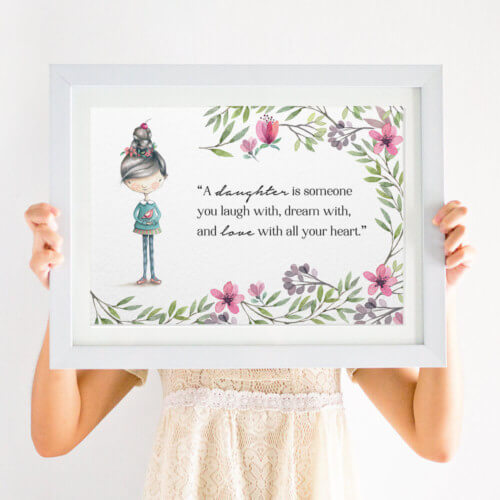 daughter nursery print