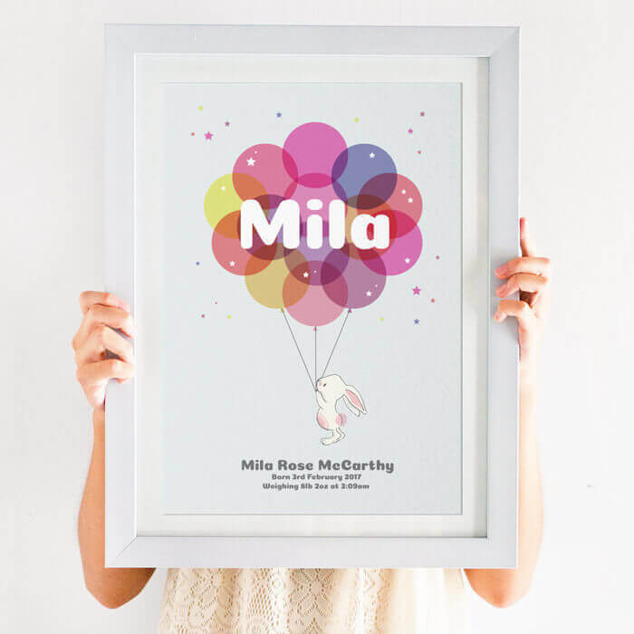 Personalised Newborn Balloon Name Print
