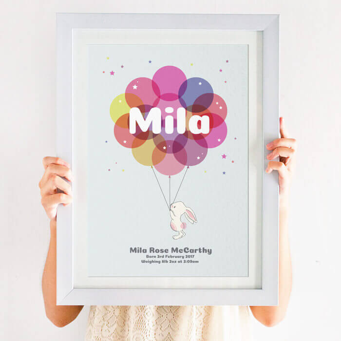 Personalised Christening Print for Girls & Boys