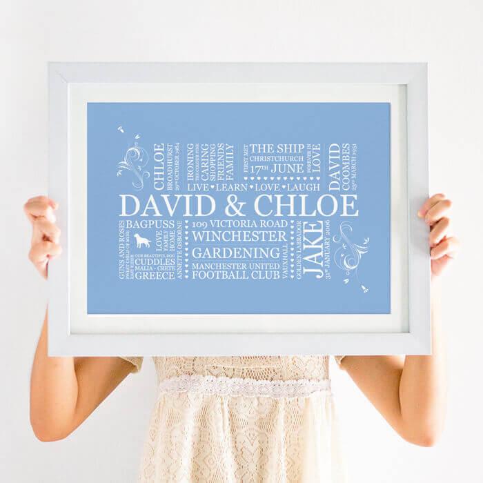 family word art print