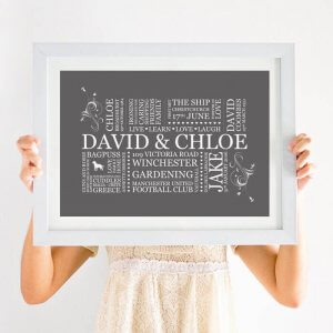 family print word art
