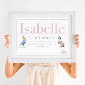 Personalised Beatrix Potter Peter Rabbit Print