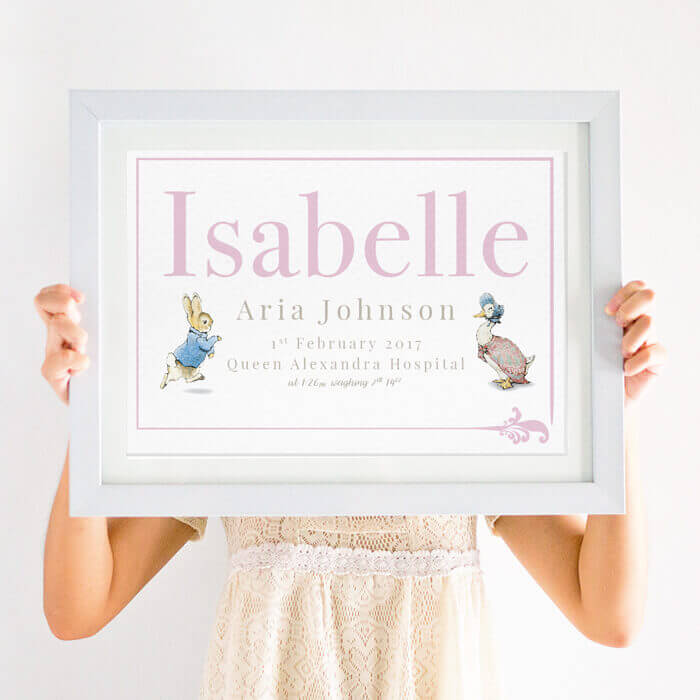 Personalised Beatrix Potter Peter Rabbit Print