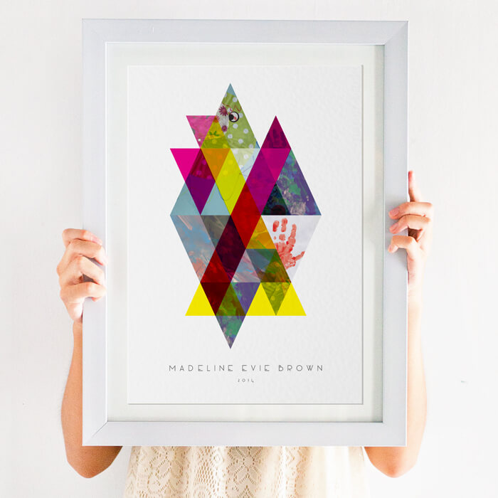 Geometric Kid's Artwork Display Print