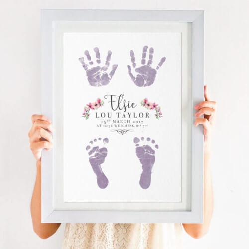 personalised inkless handprint and footprint print