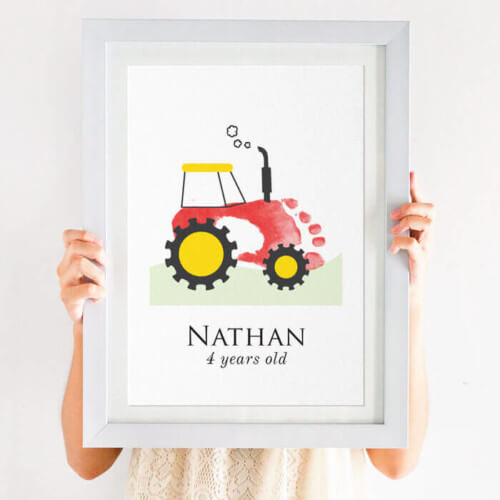 Personalised Tractor Footprint Print