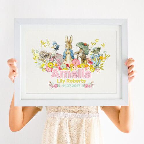 Beatrix Potter baby girl print