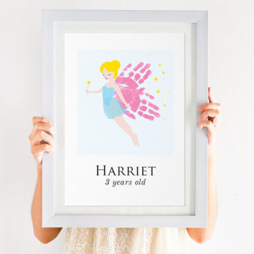 Personalised Handprint Fairy Print