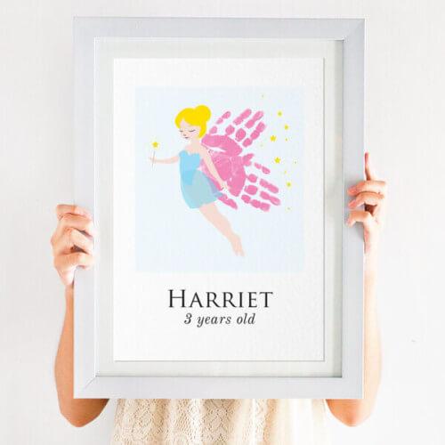 Personalised Handprint Fairy Print