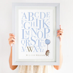 hedgehog alphabet print