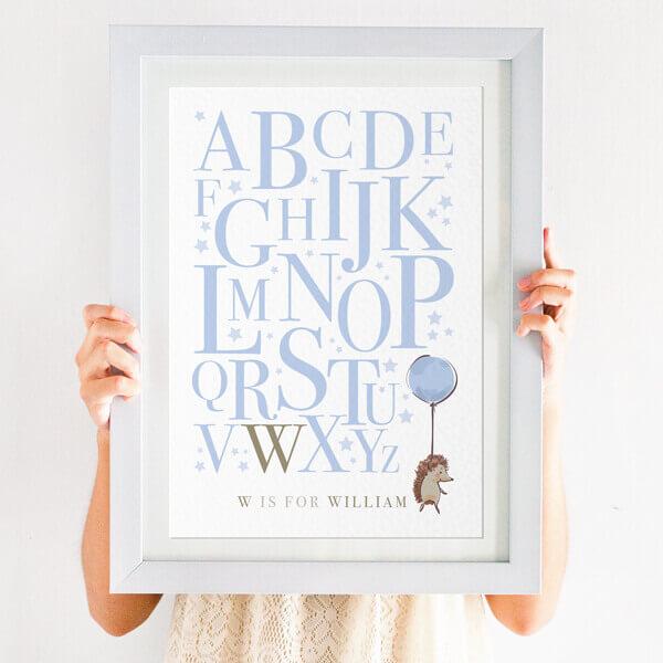 hedgehog alphabet print