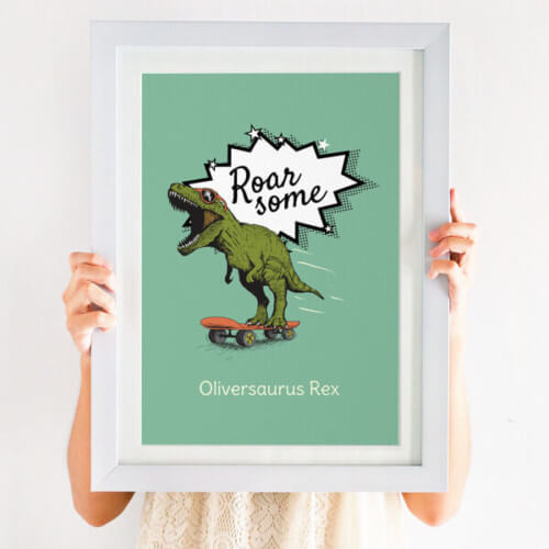 Personalised 'Dinosaur Name' Children's Print