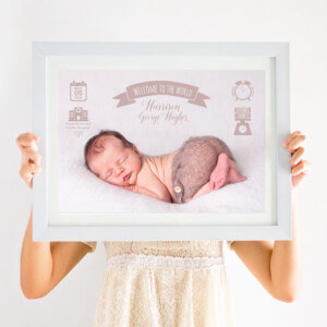 Personalised Birth Stats Photo Print
