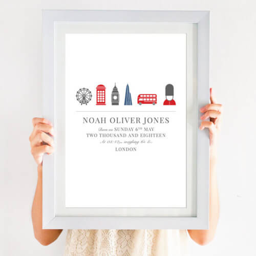 Personalised London Birth Print
