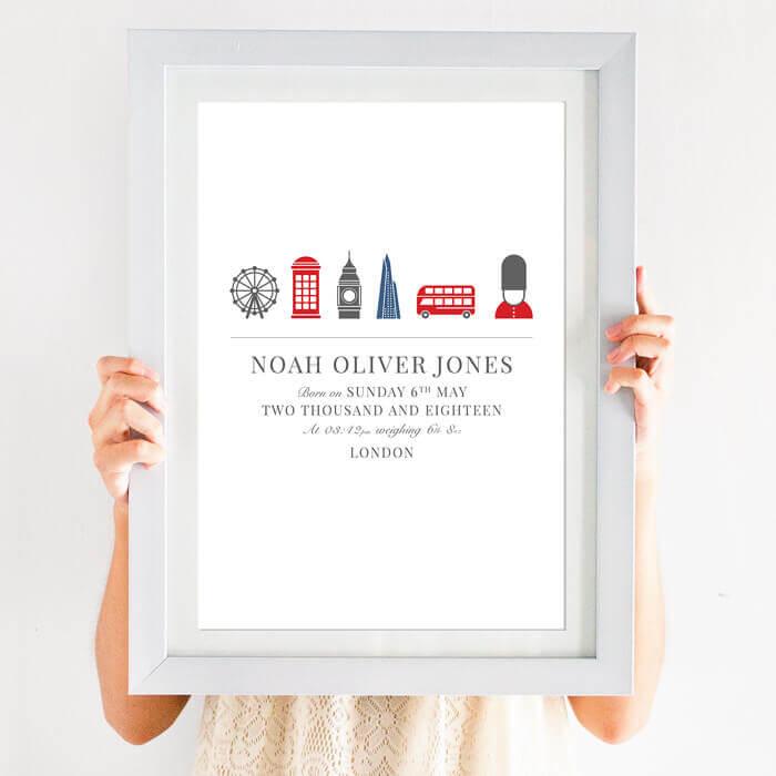 Personalised London Birth Print