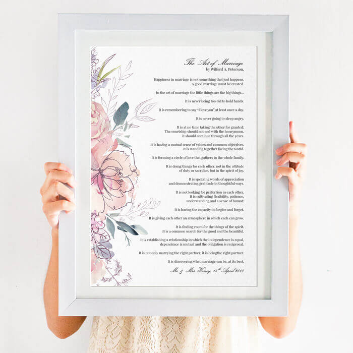 Personalised Wedding Reading Art Print